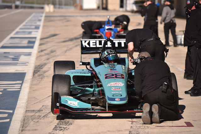 Dalton Kellett got his first taste of a Mazda powered IL-15 at Circuit of the Americas during the Chris Griffis Memorial Test in November (2015) (Photo courtesy of Indianapolis Motor Speedway, LLC Photography)