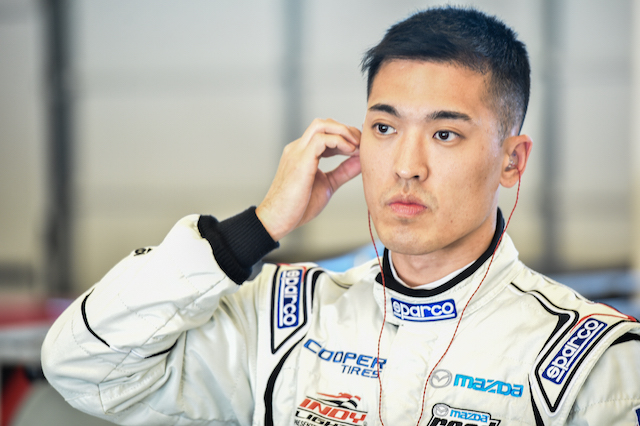 Heamin Choi gets ready to test with Schmidt Peterson Motorsports with Curb-Agajanian at Circuit of the Americas during the recent Chris Griffis Memorial Test (Photo courtesy of Indianapolis Motor Speedway, LLC Photography)