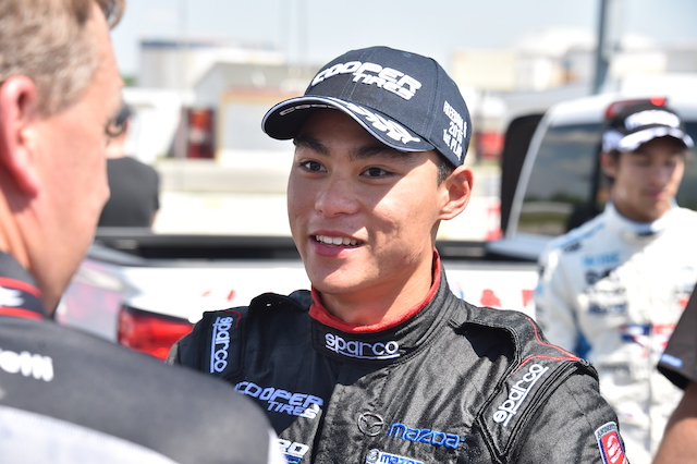 After winning four races in Pro Mazda, including two oval races, Weiron Tan is trying to find the budget to move up to Indy Lights (Photo Courtesy of IndyCar)